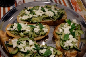 Courgette & Bruschetta Tray