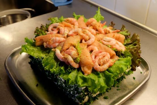 Salmon & Prawns on Smörgåstårta